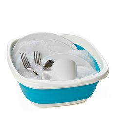 Collapsible Tub - good for camping wash ups. There is also a collapsible dish dryer rack.