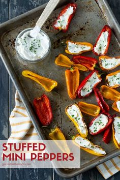 The grill isn't just for dinner! Crunchy and full of flavor these Stuffed Mini Peppers are perfect for summer entertaining! They are quick to make and a perfect match for any summer BBQ! Bbq Appetizers, Easy Appetizer Recipes, Appetizers For Summer, Easy Make Ahead Appetizers, Holiday Appetizers, Low Carb Veggie, Mini Paprika, Fingers Food, Aperitivos Keto