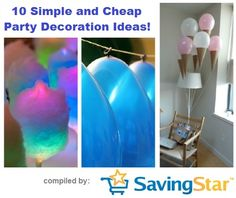 10 Simple - and Cheap - Party Decoration Ideas