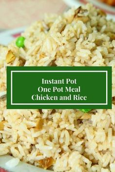 Instant Pot Easy Chicken Dinner Chicken and Rice Easy Meal Pressure Cooker