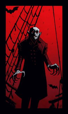 "Illustrator and artist M.S. Corley's take on Count Orlock from the 1922 classic silent horror film ""Nosferatu, eine Symphonie des Grauens"""