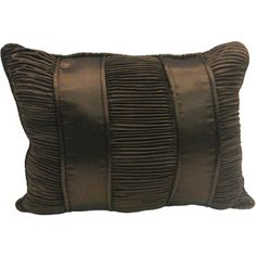 Brown Scroll Bolster Decorative Pillow