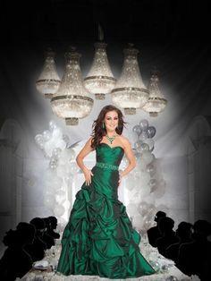 2012 Style A-line Sweetheart  Beading  Sleeveless Floor-length Taffeta Dark Green Prom Dress / Evening Dress