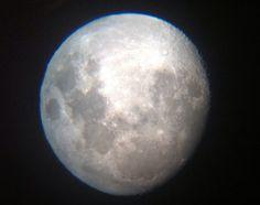 Moon up close through iPhone & GeoSafari Telescope