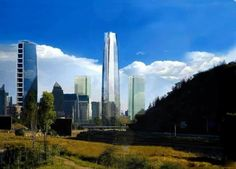 Costanera center #santiagodechile rascacielos 300 metros de altura ubicado en santiago de chile
