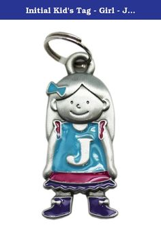 Initial Kid's Tag - Girl - J by Ganz. Your child is one of a kind! ; Initial keychain charm; Great to place on a keyring; Place on a backpack to personalize it; Ideal for children; Measures 1.5in (4cm) tall and 0.5in (1.3cm) wide.