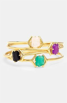 Colored stone bangle