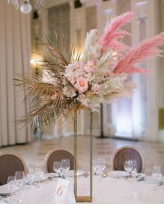 Nonchalant wedding centerpieces floral arrangements have a peek here Wedding Arrangements, Wedding Ceremony Decorations, Wedding Table Centerpieces, Flower Centerpieces, Floral Arrangements, Reception Backdrop, Wedding Receptions, Grass Centerpiece, Floral Wedding