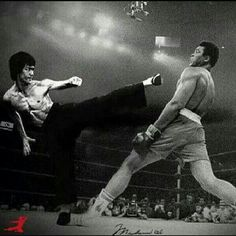 Amazing fictional match Bruce Lee and Muhamed Ali