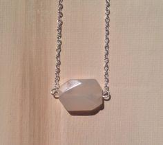 Simply beautiful minimalist geometric agate silver by lovelybylara, $12.00