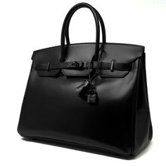 Hermes Birkin Bag So Black Box Calf with Black Hardware Iconic Vault handbags 2016 handbags vintage handbags black Hermes Bags, Hermes Handbags, Burberry Handbags, Black Handbags, Luxury Handbags, Fashion Handbags, Cheap Handbags, Popular Handbags, Hermes Birkin Bag