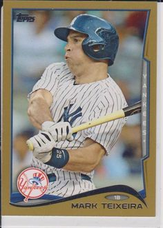 2014 Topps Series 2 # 613 Mark Teixeira Gold Border # 364 /2014 Yankees