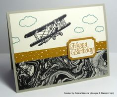 Stamp Set – Sky is the Limit (free during Sale-a-bration starting Jan 5, 2016) Cardstock – Delightful Dijon, Sahara Sand, Very Vanilla, Going Places Designer Series Paper Stack (availab…