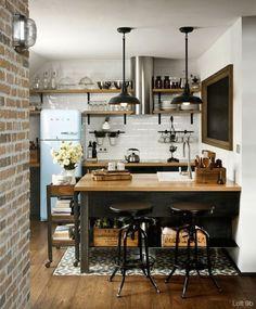 comedor integrado a la cocina