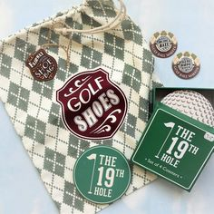 This collection is everything you need to please the golfer in your life apart from a better handicap of course A rather smart golf shoes bag two Golf Shoe Bag, Golf Shoes, Cool Coasters, Christmas Gift Sets, Great Father, Fathers Day, Markers, Birthday Gifts, Just For You