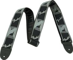 Fender Monogrammed Strap - Black/Light Grey/Dark Grey by Fender. $10.48. A fender classic, this 2 inch strap now has extra padding for a more comfortable fit.