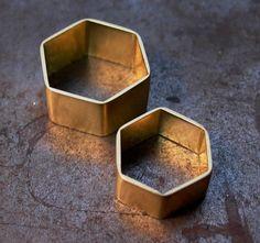 Gold Hahnoma Hexagonal Ring by Black Sheep & Prodigal Sons
