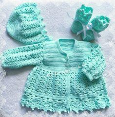 814f39eeb Baby Crochet layette sweater set