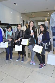 #RegentTweet bloggers with their @Karen Millen goodies! #RegentStreet