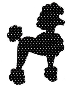 poodle skirt applique template - poodle pattern use the printable outline for crafts