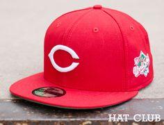 Cincinnati Reds 1990 World Series Patch Fitted Cap @ HAT CLUB