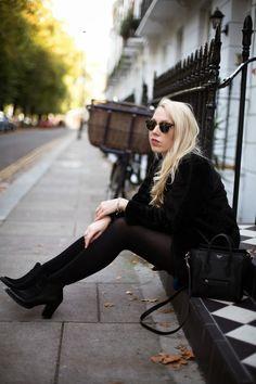 @Topshop black fur throw on coat - http://www.mediamarmalade.com/2014/10/the-shirt-dress.html#more