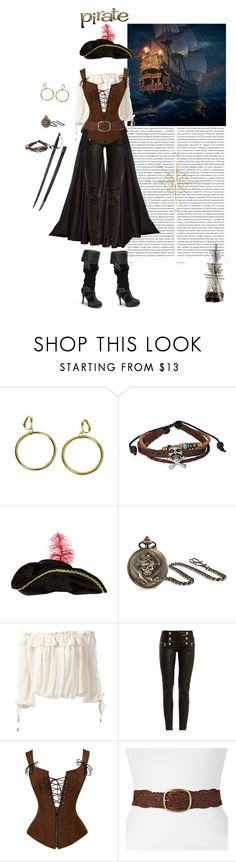 """""""HALLOWEEN SPECIAL: PIRATE LIFE!"""" by marakiasteraki ❤ liked on Polyvore featuring Oris, Bling Jewelry, Dsquared2, Lanvin, Balmain and SONOMA Goods for Life"""