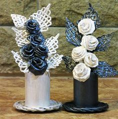 Flores con las propias manos de papel. Composicion para un regalo.