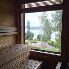 Näkymä 💯 @lovingwhitestyle #långvik #kirkkonummi #sauna #view #rauha #kesäloma… #langvikhotel http://www.langvik.fi/