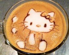 Hello Kitty coffee art