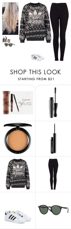 """Untitled #484"" by erin-bittencout ❤ liked on Polyvore featuring MAC Cosmetics, adidas Originals, Topshop, adidas and Ray-Ban"