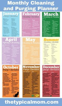 Here is a free printable monthly cleaning schedule eBook to help you clean and purge your house all year long and not get too overwhelmed! Great resource. #ebook #cleaning #purge #checklist #free #printable #organizing #home via @thetypicalmom