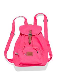 PINK Backpack lovers: meet the Mini Backpack from Victoria's Secret PINK. It's just like the cotton bag you know and love, only smaller! So cute on (and off) campus, with extra pockets for all your must-haves.