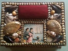 Victorian shell pin cushion / sewing box. Image source: www.ebay.com