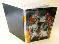 Fábio Carvalho - Dos que partem, aos que ficam (Santuário das Ninfas II) – nº 43   caderno capa dura  encadernação artesanal tecida  15x2...