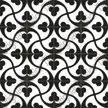 black and white cement tile
