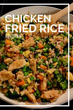 Easy & Delicious Chicken Fried Rice Recipe you must try at home Chicken Fried Rice Chinese, Chicken Fried Rice Recipe Easy, Chicken Fried Cauliflower Rice, Chicken Rice Recipes, Easy Rice Recipes, Fried Chicken, Fried Rice Calories, Vegetarian Rice Recipes, Healthy Recipes