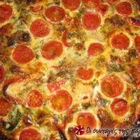 Μεσογειακή Ομελέτα Φούρνου Greek Recipes, Pepperoni, Recipies, Food And Drink, Pizza, Recipes, Rezepte, Greek Food Recipes