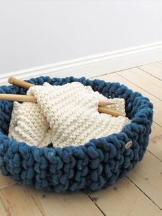 knitting in a #knitted basket