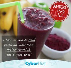 Também com propriedades antiinflamatórias, o açaí ajuda a proteger as artérias, além de aumentar o colesterol bom no sangue! http://maisequilibrio.com.br/nutricao/acai-consuma-sem-culpa-2-1-1-610.html?origem=Pinterest