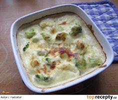 Brokolice a květák zapečené v sýrovém bešamelu