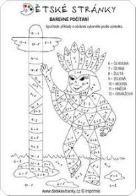 Barevné počítání: Indián s totemem Teaching Colors, Color By Numbers, Math Activities, Geometry, Westerns, Homeschool, 1, Coding, Symbols