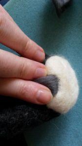 How to needle felt long animal fur (20)