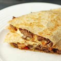 What's quick, easy, healthy, and yummy? Quesadillas. Get them while it's too hot to cook anything else!