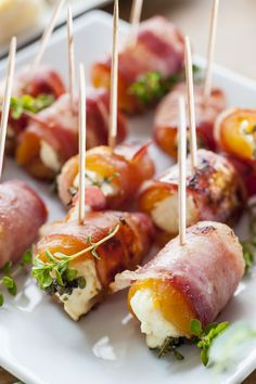 Cherubs on horseback.  (Apricots)  This is my spin on those other Heaven/Hell based bacon wrapped things (dates or prunes are Devils on horseback, oysters are Angels). I strug...