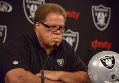 Sep 30, 2014; Alameda, CA, USA; Oakland Raiders general manager Reggie McKenzie during a press conference to introduce Tony Sparano (not pictured) as Raiders interim coach at the Raiders practice facility. Mandatory Credit: Kirby Lee-USA TODAY Sports