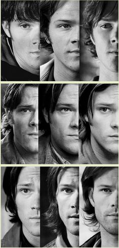 Sam Winchester, seasons 1-9. he looks sad in every picture
