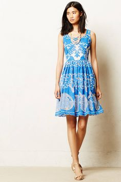 Azure Lace Dress | Anthropologie