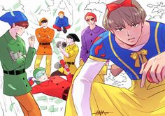Bad ass snow white and her bad ass dwarfs««««««,,draw the squad''