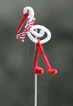 Activities For 6 Year Olds, Craft Activities For Kids, Projects For Kids, Baba Marta, Flamingo Craft, International Craft, Diy And Crafts, Paper Crafts, Pipe Cleaner Crafts